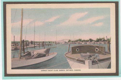 Sarnia Yacht Club vintage postcard